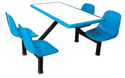 四人玻璃钢连体餐桌