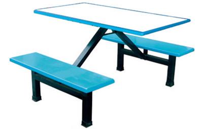 连体四人玻璃钢餐桌