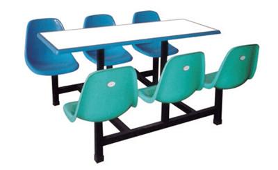 六人玻璃钢快餐桌