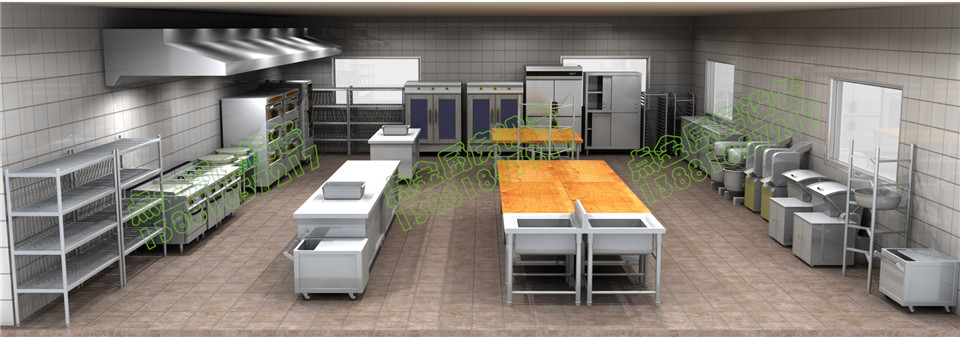 学生食堂设备面点间三维设计方案