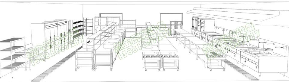 学校食堂设备主厨设计方案